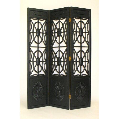 "Wayborn 78"" x 54"" Gothic Flower Bomb 3 Panel Room Divider"