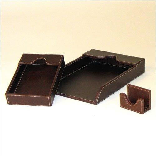 Wayborn Cigar Room Leather Covered Tray