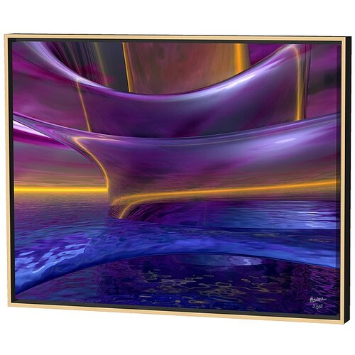 Menaul Fine Art Waves Limited Edition by Scott J. Menaul Framed Graphic Art