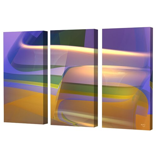 Menaul Fine Art Groove II Limited Edition by Scott J. Menaul 3 Piece Framed Graphic Art Set