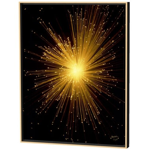 Menaul Fine Art Fiber Optics Snake Limited Edition by Scott J. Menaul Framed Photographic Print