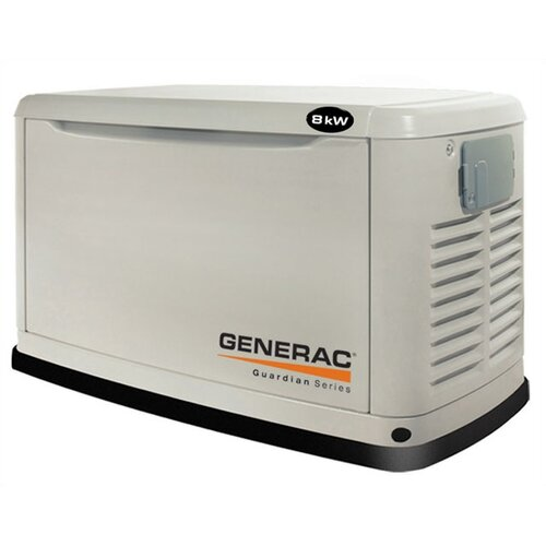Guardian 8 Kw Liquid-Cooled Single Phase 120/240 V Natural Gas Propane Standby Generator in ...