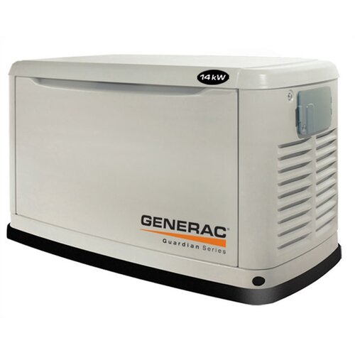 Generac Guardian 14 Kw Liquid-Cooled Single Phase 120/240 V Natural Gas Propane in Steel Enclosure in Steel Enclosure