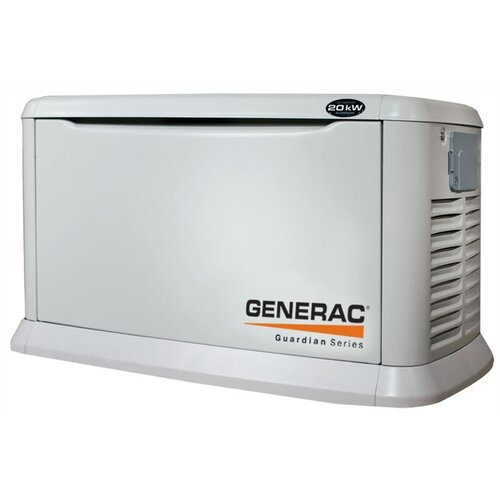 Guardian 20 Kw Air-Cooled Single Phase 120/240 V Natural Gas Propane Standby Generator in ...