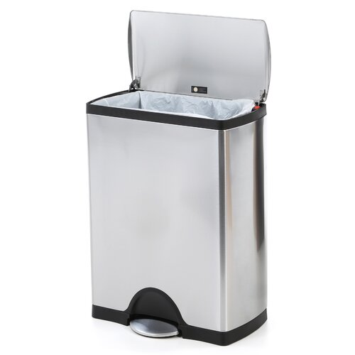 simplehuman 50 l 13 2 gal rectangular step trash can stainless steel. Black Bedroom Furniture Sets. Home Design Ideas