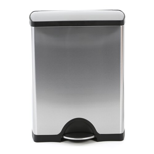 simplehuman 12-Gal. Recycler Trash Can