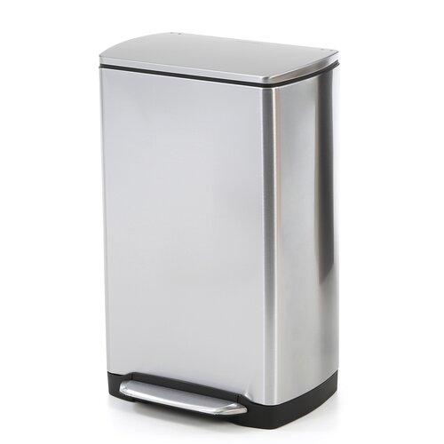 Simplehuman 38 l 10 gal wide step rectangular step trash can stainless steel reviews wayfair - Rectangular garbage cans ...