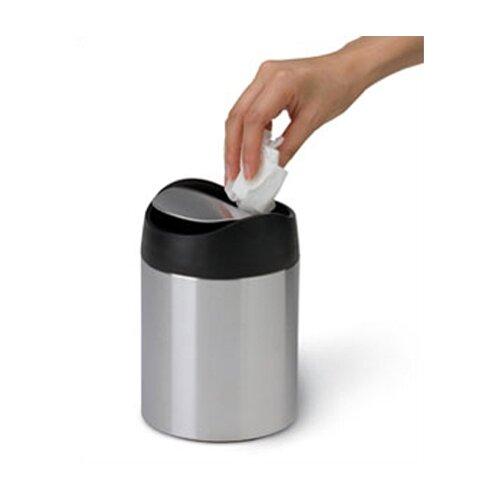 Countertop Garbage Can : simplehuman 1.5 L / 0.40 Gal. Countertop Trash Can in Brushed ...