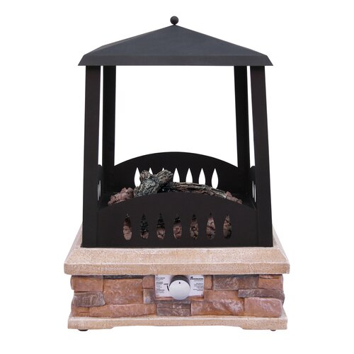 ... Grandview S... Outdoor Propane Gas Fireplace