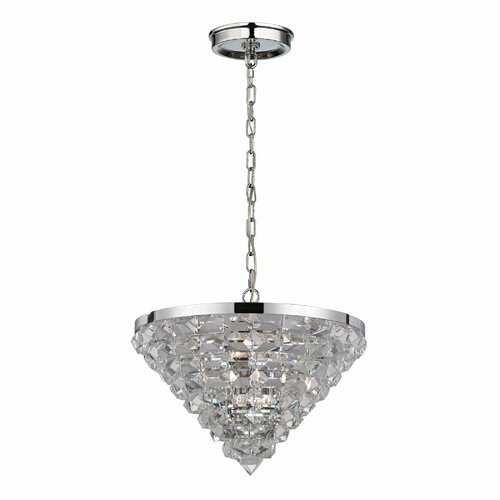 Crystal Ice 5 Light Pendant