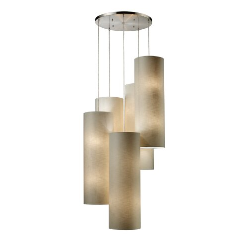 Fabric Cylinders 20 Light Pendant