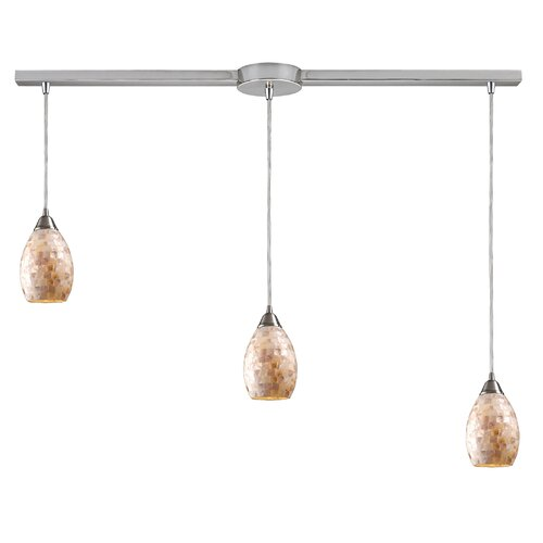 Elk Lighting Capri 3 Light Linear Pendant