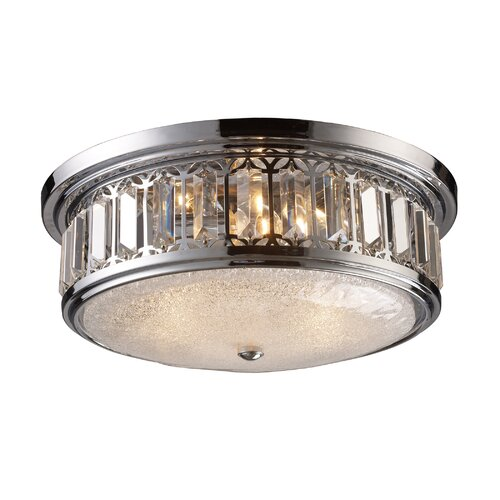 Elk Lighting 3 Light Flush Mount