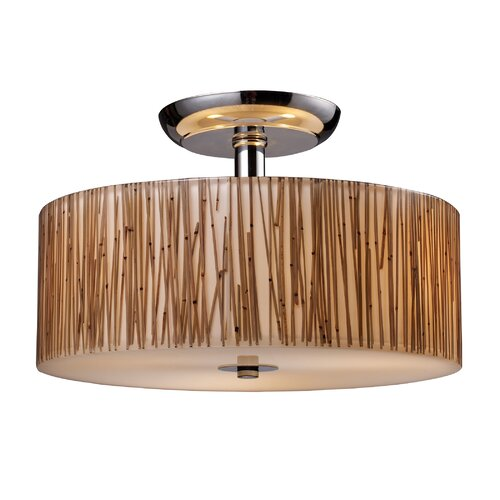 Elk Lighting Modern Organics 3 Light Semi Flush