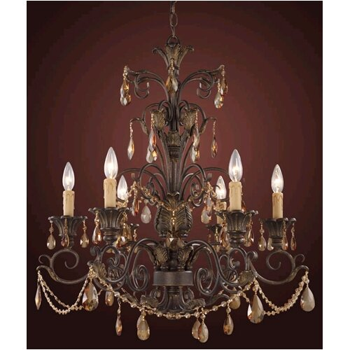 Trump Home Rochelle Candle 6 Light Chandelier