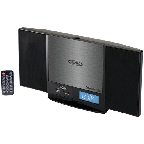 Jensen Wall-Mountable Bluetooth Music System