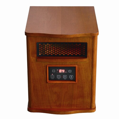 Quartz Infrared Cabinet Electric Space Heater with Programmable Timer