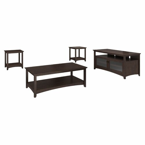 Buena Vista 4 Piece Coffee Table Set With End Tables And TV