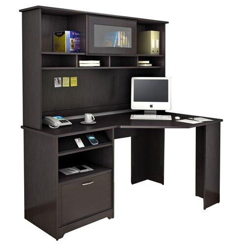 Bush Cabot Corner Computer Desk with Hutch & Reviews | Wayfair Supply