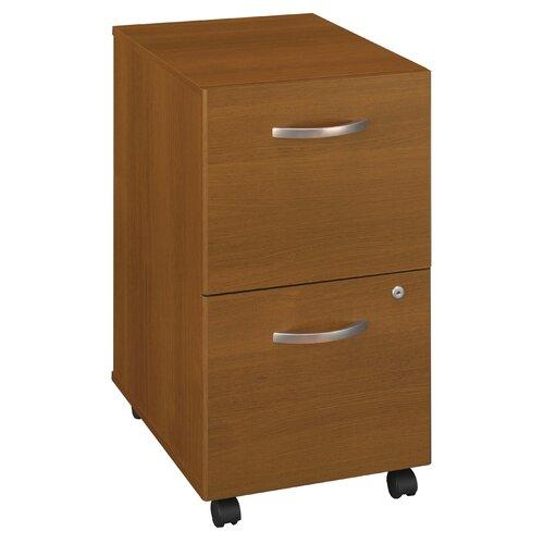 Bush Industries Series C 2 Drawer Mobile Filing Cabinet