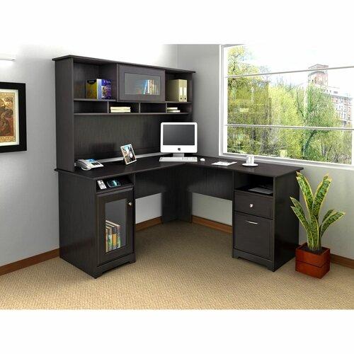Bush Industries Cabot L-Shape Desk Office Suite