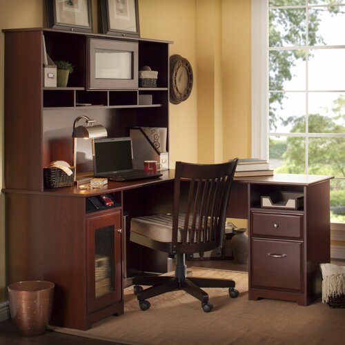 Bush Industries Cabot L Shape Computer Desk Office Suite