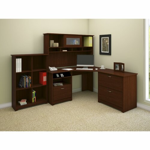 Cabot Corner Desk Office Suite With File & Bookcase