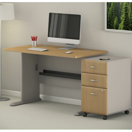 bush business furniture series a computer desk with 3 drawer file reviews wayfair. Black Bedroom Furniture Sets. Home Design Ideas