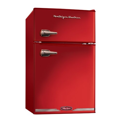 Retro Series 3.1 Cu. Ft. Compact Refrigerator with freezer