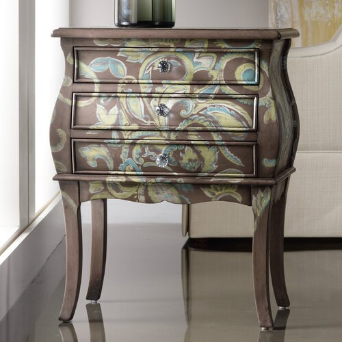 Melange Paisley 3 Drawer Accent Chest