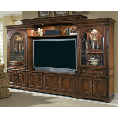 cherry wood entertainment center wayfair. Black Bedroom Furniture Sets. Home Design Ideas