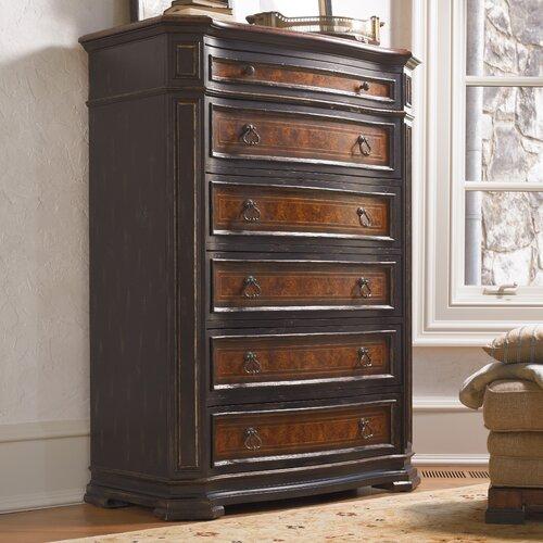 Hooker Furniture Grandover 6 Drawer Chest Reviews Wayfair