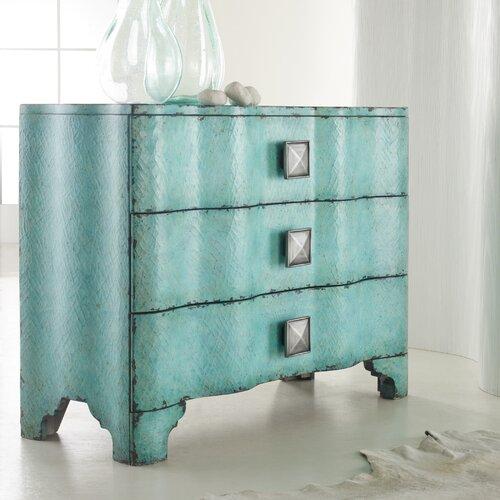 Hooker Furniture Melange Crackle 3 Drawer Chest