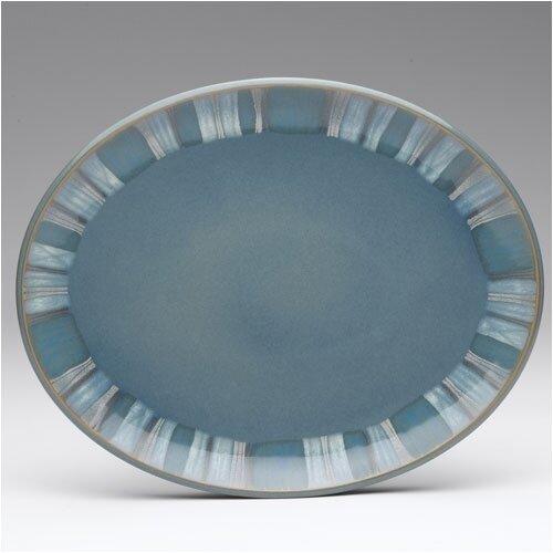 "Denby Azure Coast 14"" Oval Platter"