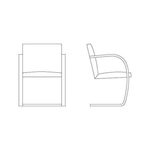 Knoll ® Brno Flat Bar Chair