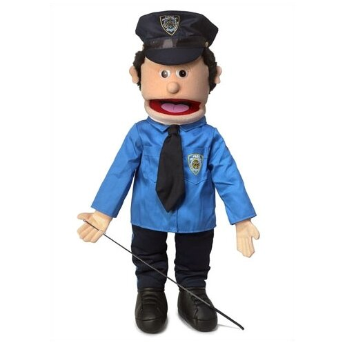 "Silly Puppets 25"" Caucasian Policeman Full Body Puppet"