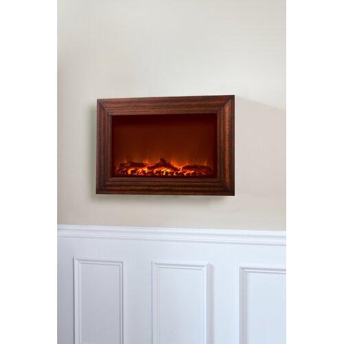Fire Sense Wood Wall Mounted Electric Fireplace