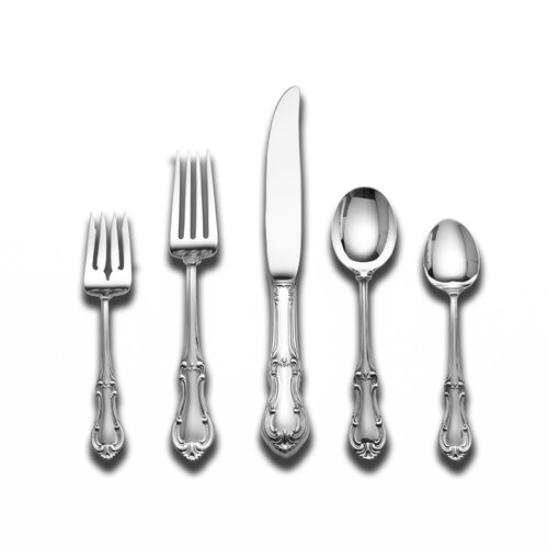 International Silver Sterling Silver Joan of Arc 5 Piece Dinner Flatware Set