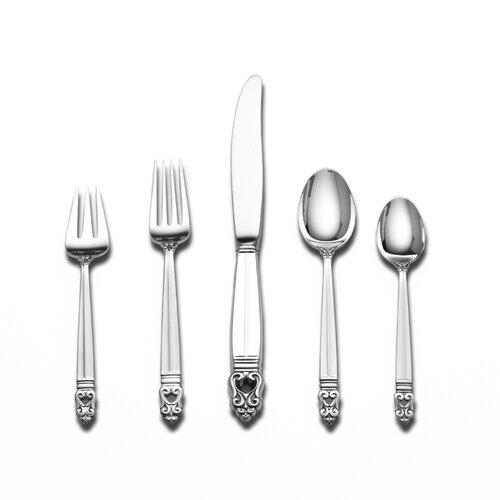 International Silver Sterling Silver Royal Danish 5 Piece Flatware Set