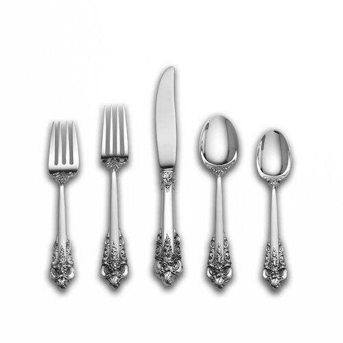 Wallace Sterling Silver Grande Baroque 66 Piece Flatware Set