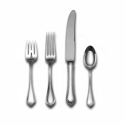 Sterling Silver Old Newbury 4 Piece Dinner Flatware Set