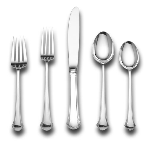 Towle Silversmiths Sterling Silver Chippendale 46 Piece Dinner Flatware Set / Serving Setting
