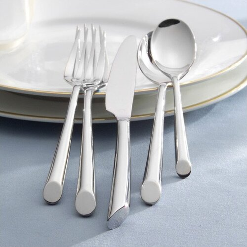 Towle Silversmiths 20 Piece Wave Flatware Set