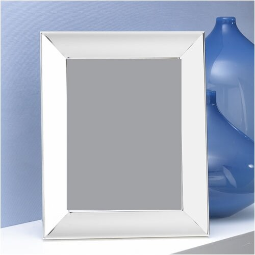 Silver Plated Picture Frame with Wide Border Scoop