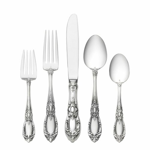 Towle Silversmiths Sterling Silver King Richard 5 Piece Dinner Flatware Set