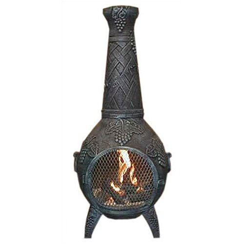 The Blue Rooster Grape Style Chiminea