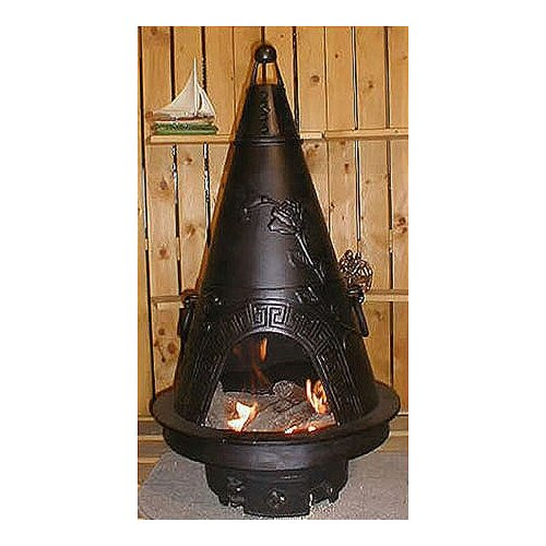 The Blue Rooster Garden Style Chiminea with Gas Kit