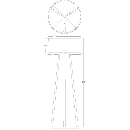 Robert Abbey Shinto Tripod Floor Lamp