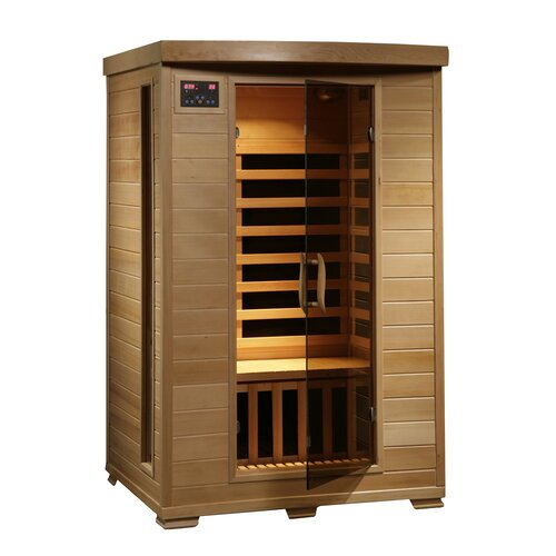 radiant saunas 2 person carbon far infrared sauna reviews wayfair. Black Bedroom Furniture Sets. Home Design Ideas