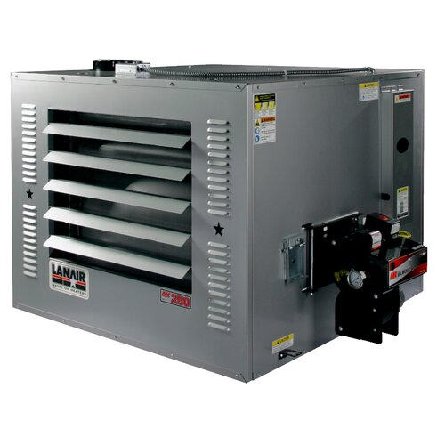 MX-Series 250,000 BTU Waste Oil Heater with Wall Chimney and 215 gal Tank